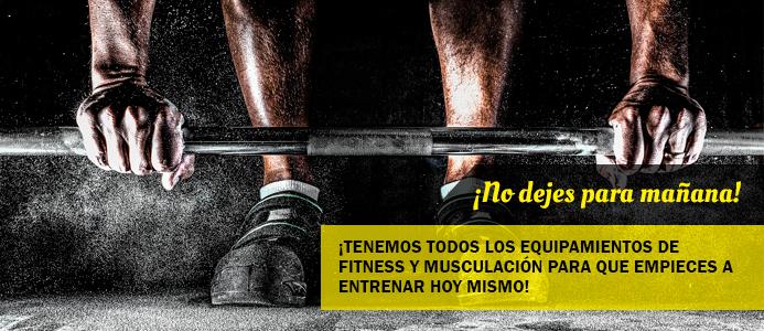 Tenemos todos los equipamientos de fitness y musculación para que empieces a entrenar hoy mismo