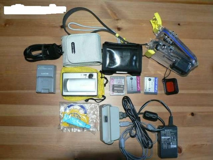 Sony DSC-T1 con carcasa Sony Marine Pack 40 mts en