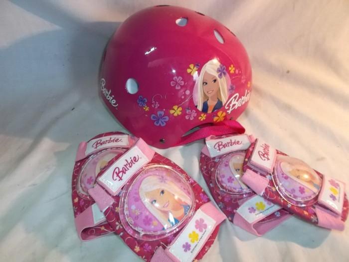 Casco + Protecciones Barbie en
