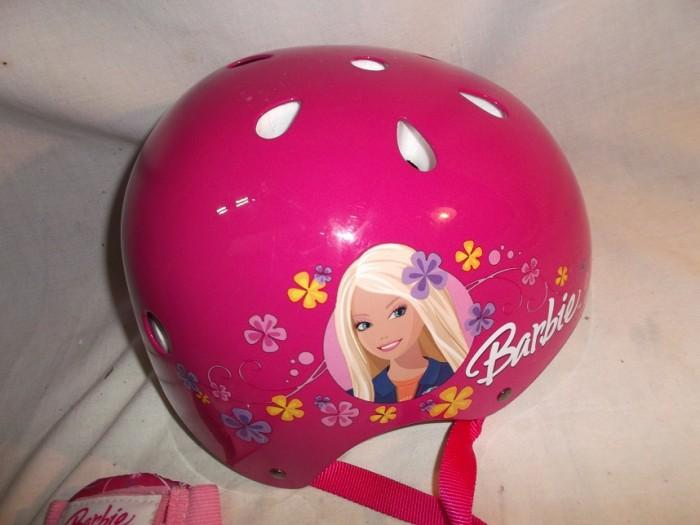 Casco + Protecciones Barbie