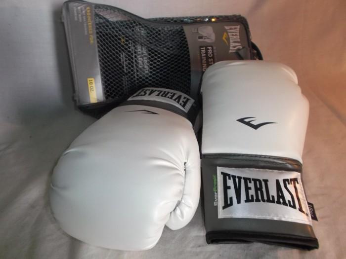 Guantes Boxeo Everlast Pro Style Blancos 10Oz en