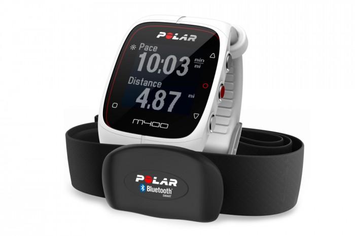 GPS Polar M400 HR Blanco + Cardio en