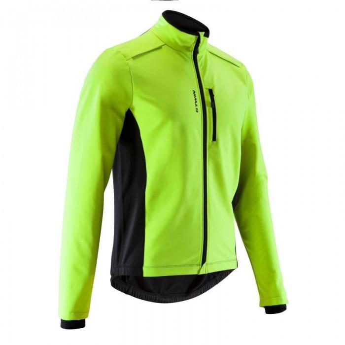 Chaqueta Ciclismo BTwin 100 Fluor en